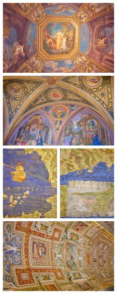 Paintings inside the Vatican Museums, which contains one of the world's greatest art collections.