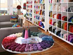 Oh My! Every crocheter's dream room!
