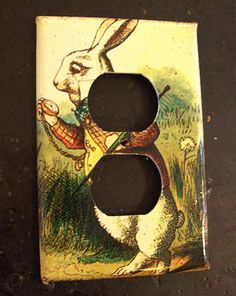 Alice in Wonderland switch plate retro vintage Victorian fairy tale light switch outlet