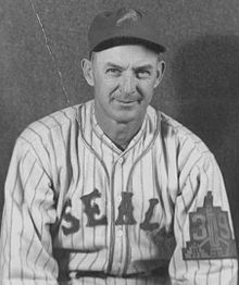 Sam Gibson played fourteen seasons in the minor-league Pacific Coast League for the San Francisco Seals, Portland Beavers and Oakland Oaks in 1931 and from 1933 to 1945. His best season was 1935, in which he went 22–4.[1] and holds the Seals' highest single-season winning percentage at .846.[2] He was a teammate of Joe DiMaggio, and the two were inducted into the Pacific Coast League Hall of Fame.