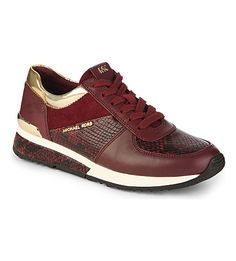 MICHAEL MICHAEL KORS - Allie snake-print leather trainers   Selfridges.com