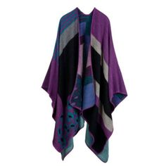 Womens Knitted Cape Blanket Imitation Cashmere Poncho Open Front Shawl Scarf lot