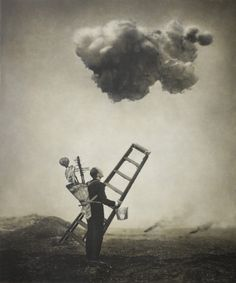 """Robert and Shana ParkeHarrison / """"My photographs tell stories of loss, human struggle, and personal exploration within landscapes scarred by technology and over-use…. [I] strive to metaphorically and poetically link laborious actions, idiosyncratic rituals and strangely crude machines into tales about our modern experience.""""   --Robert ParkeHarrison"""