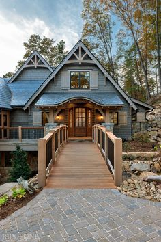 The Reserve at Lake Keowee I Mountain Home Exterior, Modern Mountain Home, Mountain Homes, Mountain Style, Cabana, Rustic Lake Houses, Craftsman Style House Plans, Craftsman Lake House, Rustic Home Design