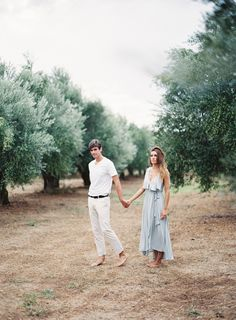 Simple Engagement Session in an Olive Grove | Les Anagnou destination film wedding photographer