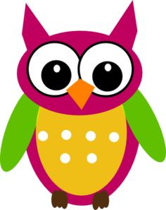 Purple Green Owl Clip Art