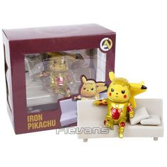 Pikachu Cosplay Deadpool Captain America Iron Man Super Mario Naruto Kakashi PVC Figure Collectible Model Toy