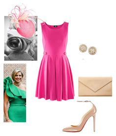 Flashback: Princess Maria attending the weddinf of Princess Maria Carolina of Bourbon- Parma by giaam on Polyvore featuring H&M, Carré Royal, Fred Leighton, Elodie and Christian Louboutin
