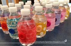 Water Bottles at a Lalaloopsy Party #lalaloopsy #partydrinks