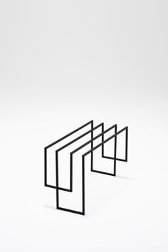 NENDO - Think Black Lines - London - Phillips de Pury at Saatchi Gallery--stool: