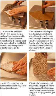 Embossed Effect for Gingerbread