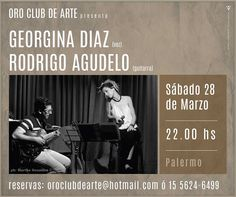 Flyer para Oro Club de Arte Georgina Díaz + Rodrigo Agudelo