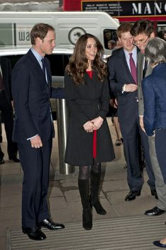 Prince William, Prince Harry, and Kate Middleton arrive at New Zealand House in Haymarket to sign a book of condolences for the victims of the earthquake in Christchurch, New Zealand.  Feb 25, 2011