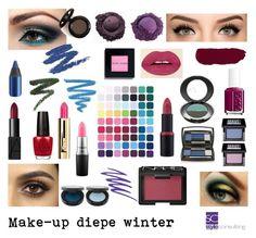 """""""Make-up voor het diepe wintertype."""" By Margriet Roorda."""