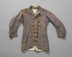 jak of jas voor kleine jongen uit Noord-Holland, katoen, houten knopen #NoordHolland