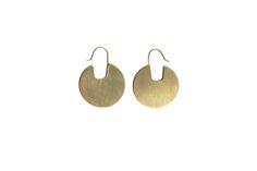 Gilt Disk Earrings by Smith Jewellery | Dubaruba #MakersAndDoers #inspiration #fashion