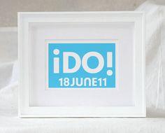 Wedding Personalized Typography I Do Print by RawArtLetterpress, $27.00