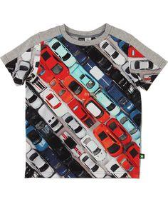 Molo funky grijze t-shirt met Matchbox autootjes #emilea