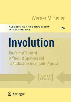 Ordinary differential equations in r the differential equations involution the formal theory of differential equations and its applications in computer algebra fandeluxe Images