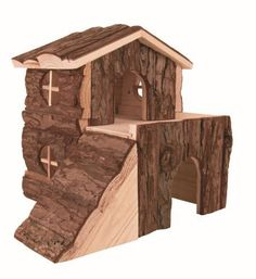 This block house Bjork is ideal for large hamsters and guinea pigs. This nice and useful block house is made of natural wood and offers the pet an ...