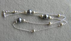 Beautiful Wire Wrap Glass Pearl Necklace by StoneLoveJewelryGirl, $12.00