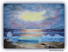 Cloudy Seashore by SanthiyaArtPage on Etsy