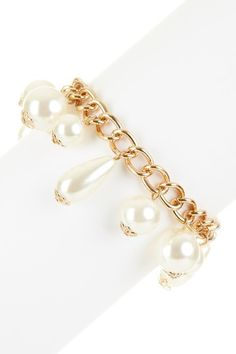 Only $15.00:  50% off MSRP Today Only!  Chain Pearl Drop Bracelet by Day to Night: Jewelry Event on @HauteLook