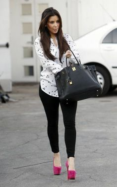 Kim Kardashian Fashion and Style - Kim Kardashian Dress, Clothes, Hairstyle - Page 24