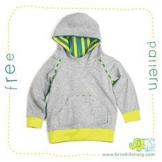 Brindille & Twig - Free Hoodie Pattern (I love all her patterns!)