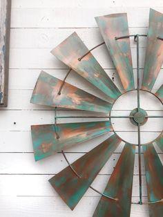 Full windmill head 35 wall decor rustic farmhouse by camillacotton industri Windmill Ceiling Fan, Windmill Decor, Rustic Wall Decor, Rustic Farmhouse Decor, Farmhouse Ideas, Home Decor Items, Diy Home Decor, Rustic Loft, Porch Wall