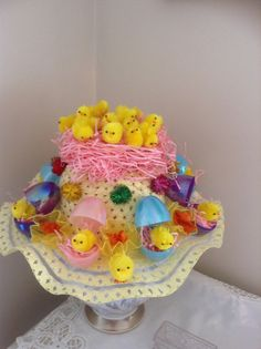 Easter bonnet made with my lovely glue gun Crafts For Seniors, Crafts For Kids, Easter Hat Parade, Easter Eggs, Easter Bonnets, Easter 2015, Easter Crafts, Easter Ideas, Spring Hats