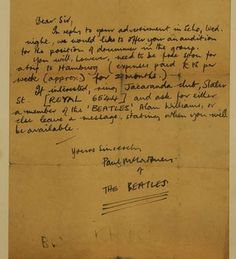 Beatles Letter Found in Car Fetches $55K!