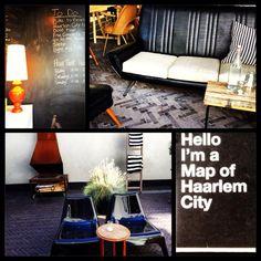 Hello I'm Local Livingroom and Patio. #hostel #haarlem #dutch #design #vintage #fireplace #netherlands #travel #placestostay #clubchair