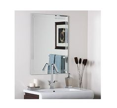 Decor Wonderland Arch Frameless Bathroom Mirror at Lowe's. Decor Wonderland's arched frameless wall mirror with shelf is a great way to add space in a modern bathroom. This large vanity mirror measures Decor, Decor Buy, Modern Frameless Mirrors, Wall Mirror With Shelf, Modern Bathroom Mirrors, Etched Mirror, Wall Mounted Mirror, Bathroom Decor, Mirror Wall