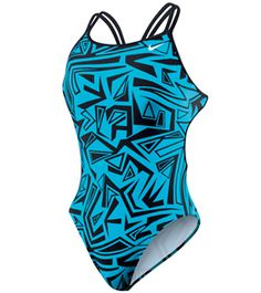 Nike Swim Angled Lanes Spider Back Tank at SwimOutlet.com - Free Shipping