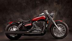 Honda Shadow 750 Aero Red and Black Bobber Motorcycle