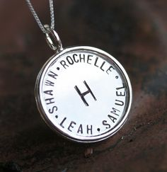 Large  7/8 inch  Hand Stamped Reversible Sterling by jenerijewelry, $91.00