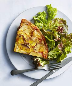 """Spanish Tortilla With Harissa Sauce 