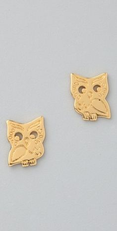 Gorjana Owl Stud Earrings - StyleSays