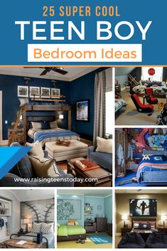 25 Super Cool Teenage Boy Bedroom Ideas! The best of the best of ideas and cool ideas all right here to give you the inspiration you're looking for! #teenbedrooms #teenbedroomdecor