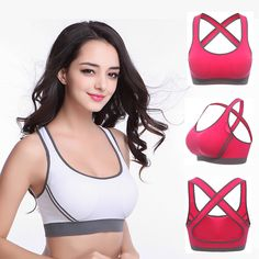 926570c898 2017 Women Seamless Sports Bra Cotton Stretch Athletic Vest Yoga Fitness  Gym Hot Sexy Push Up Underwear Running Tank Top Bra