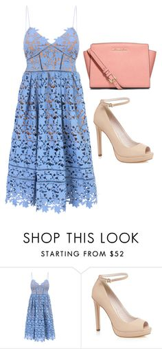 """""""Untitled #262"""" by kenzie-raye13 on Polyvore featuring self-portrait and MICHAEL Michael Kors"""