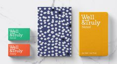 Pattern / Colour / Well & Truly / Brand Identity / Stationery / Business Card / Tone of Voice / Logo / Snacking / Start-up / Healthy