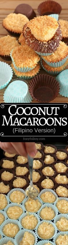 Try this Filipino version of coconut macaroons. Filipino coconut macaroons have a lighter or airy texture and are softer. Easy to make with simple ingredients. Filipino Dishes, Filipino Desserts, Filipino Recipes, Filipino Food, Chamorro Recipes, Pinoy Recipe, Delicious Desserts, Dessert Recipes, Yummy Food