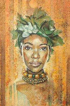 Image detail for -Gallery Africa - African Paintings of African Women