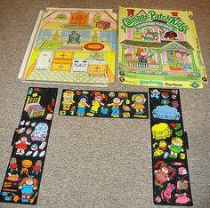 Vintage Cabbage Patch Kids Play House Colorforms Color Forms Place & Stick Set !