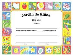 diplomas de escolares para imprimir