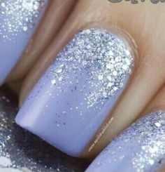 always see glitter that fades from the bottom up, not so much from the top down.... i like it!