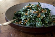 raw tuscan kale salad (vegetarian)