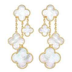 Van Cleef & Arpels Mother-of-Pearl 'Magic Alhambra' Earrings